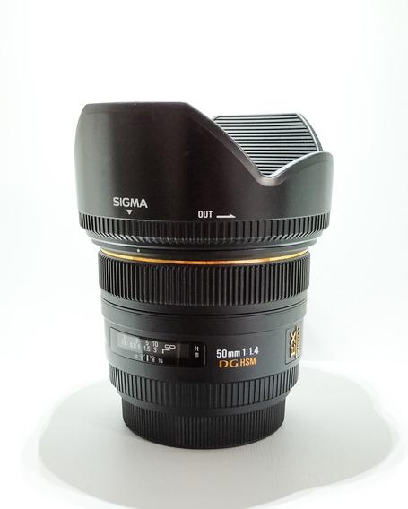 Lente Sigma 50 1.4 Dg Hsm - Lente Canon