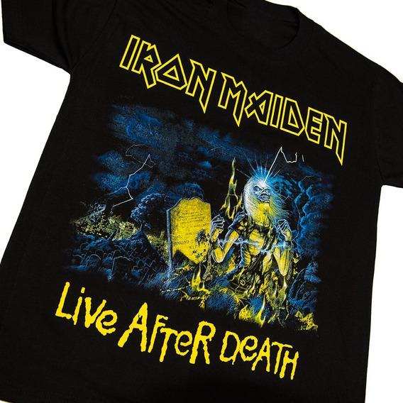 Iron Maiden Remera Algodón Premium - Live After Death - Envíos A Todo El País - Walk On Hell