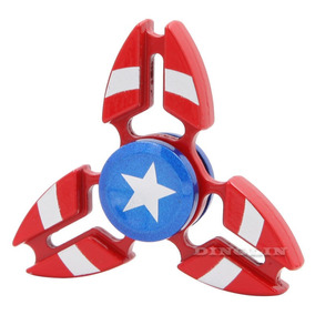 Juguete Spinner Aluminio Capitan America, Hombre Arana