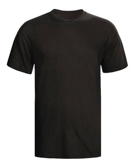 Camisa Preta Básica De Algodão Lisa Atacado Masculino