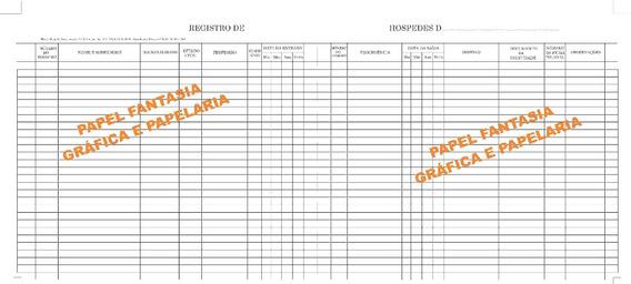 Livro Registro De Hospedes 500 Folhas ( Promoção Do Dia )