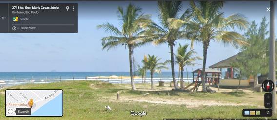 Terreno De Frente Para Praia, 1540m², Em Itanhaém.