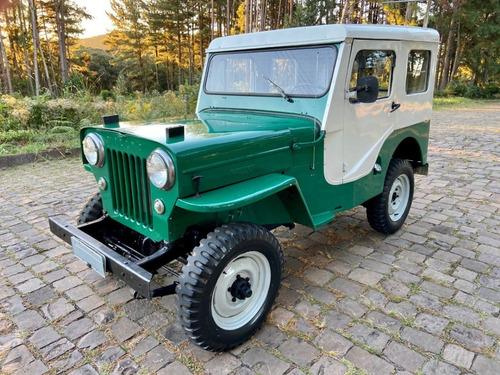 Imagem 1 de 11 de Jeep Cj3b 4x4 1953 C/ Capota De Lata - Único Dono