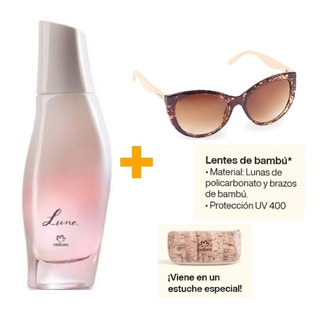 Perfume Luna Clásico 50ml Natura + Anteojos De Sol Con Estuc