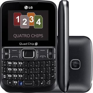Celular LG C299 Quadrichip Preto Câmera Vga Radio Fm