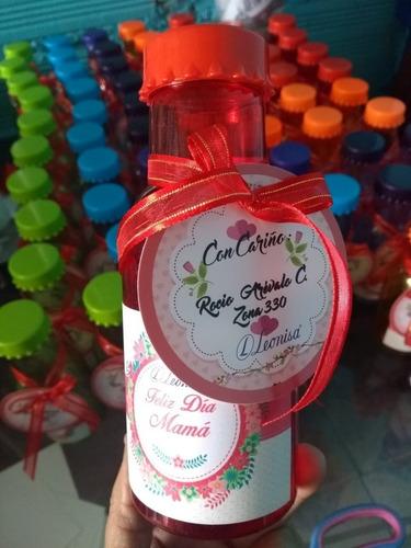 Botella Recordatorios Personalizada Envase Plastica 16cm Lot