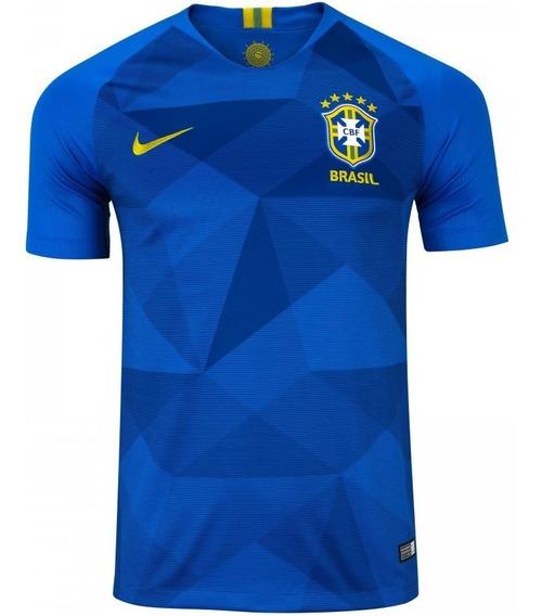 Camisa Da Seleção Brasileira Azul 2018 Nik Promoção Oficial