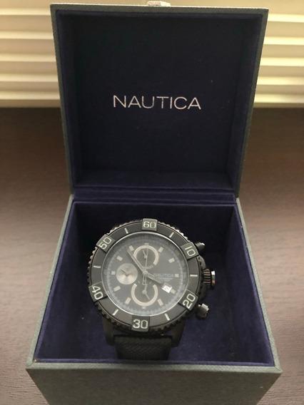 Relógio Náutica Pulseira Couro Original