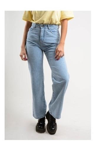 Mom Jeans Mujer Pantalon Vintage Ancho Tiro Alto Rigido Wide Jivana Indumentaria