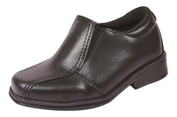 Sapato Social Juvenil Infantil Liso Fosco Masculino 28/36