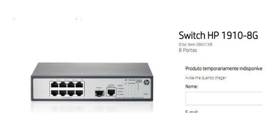 Switch Hp 1910 8g - Informática [Melhor Preço] no Mercado
