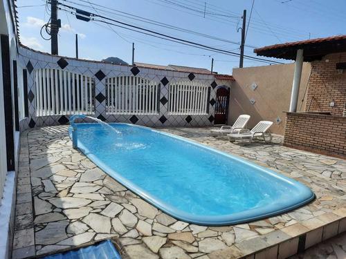 Casa Com Piscina + Edícula Em Mongaguá ! Cod 271