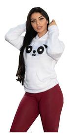 Blusa Casaco Frio Feminino Urso Ursinho Paris Pelucia Panda