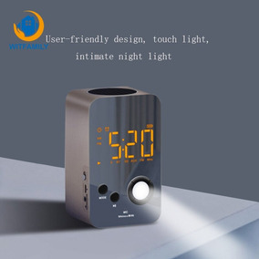 Noite Luz Bluetooth Auditivo Wake Acima Despertador Rádio Po