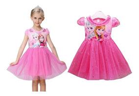 Vestido Fantasia Infantil Frozen Elsa Ana Tutu Halloween2017