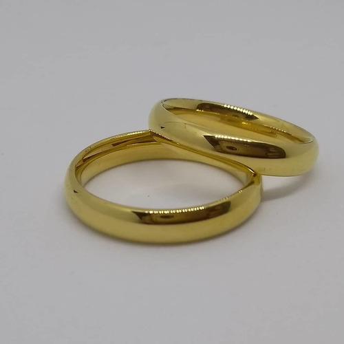 Argollas Matrimonio O Compromiso En Plata Con Enchape De Oro