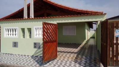 Casa Nova Em Mongaguá, 500 Mts Da Praia, Ref.136