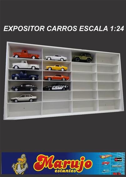 Estante Expositor Coleção Carros Escala 1:24 C/ 24 Vagas