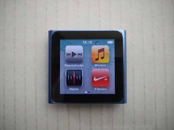 iPod Nano 6ª 8gb + Dock Station Logitech + Pulseira Relógio