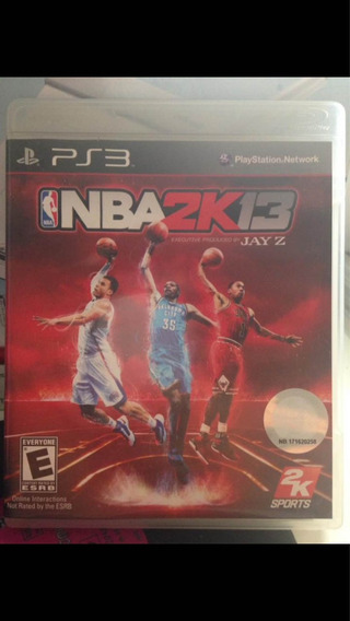 Playstation 3 Nba 2k13 Jay-z Ps3 Usado Ótimo Estado R$72,97