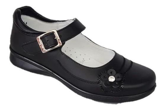Zapato Escolar Juvenil Negro 22 Al 26 Piel By Kuali Shoes