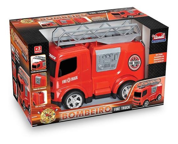 Juguete Niño Camion De Bombero Fire Truck Usual Brinquedos