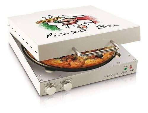 Pizza Grill Box Elétrica Pra Assar Pizza Maleta Brinde 220v