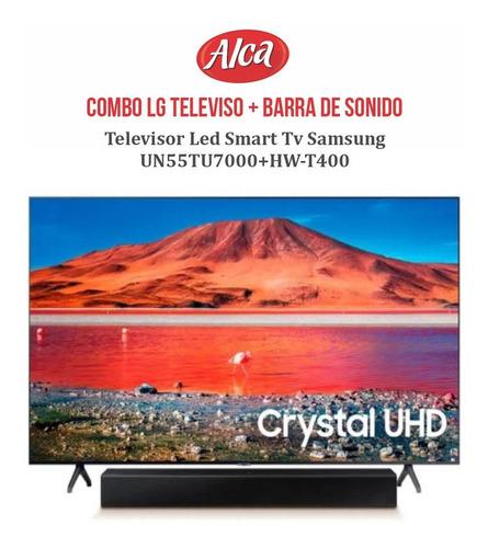 Imagen 1 de 3 de Combo Samsung Televisor 55  Un55tu7000 + Barra Hw-t400.