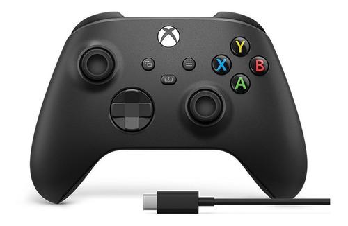 Imagen 1 de 3 de Joystick inalámbrico Microsoft Xbox Xbox Series X|S controller + USB-C cable carbon black