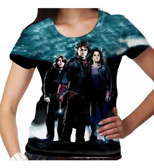 Camiseta Harry Potter Rony E Hermione Feminina