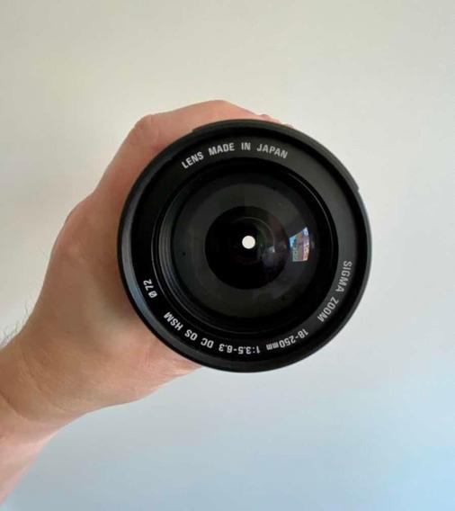 Lente Sigma 18-250mm F3.5-6.3 Dc Os Hsm Para Canon