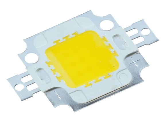 Kit 10 Chip Super Power Led 10w 9v-12v Branco