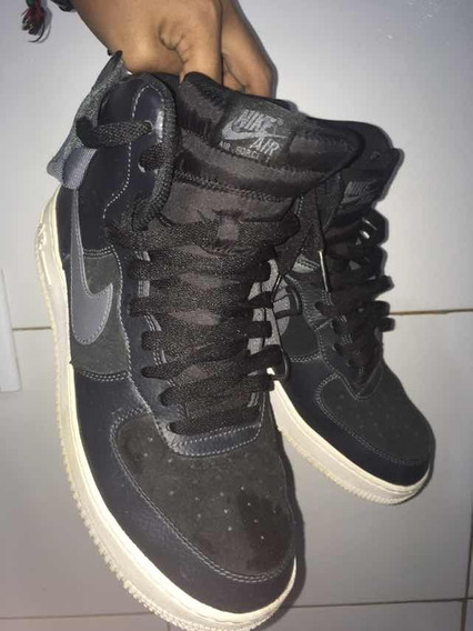Air Force 1 High Preto Cinza