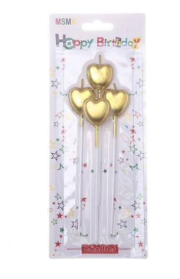 Vela Corazón Dorado