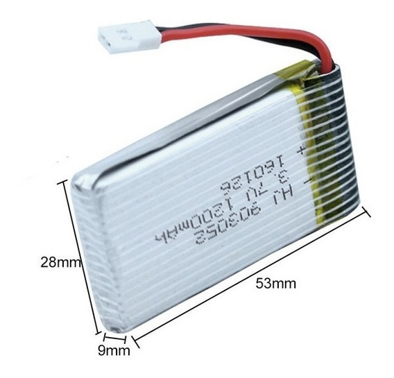 Kit Bateria Potente 1200mha.mais Carregador Usb Intruder H18
