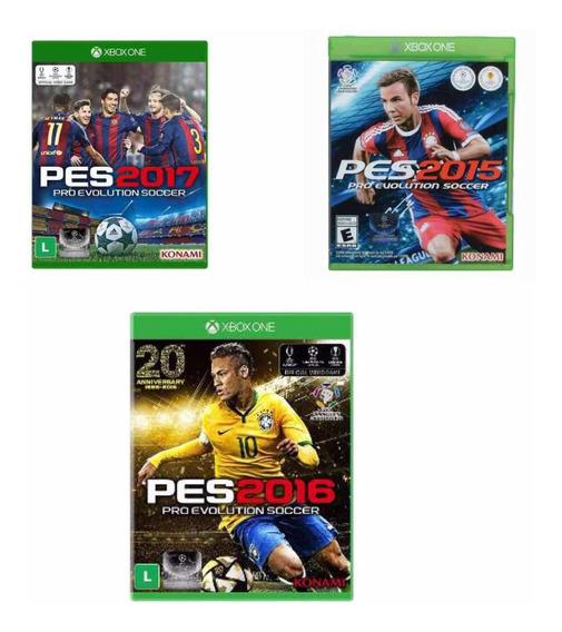 Kit Pes Xbox One 15/16/17 Jogos Lacrado Originais Pro Soccer