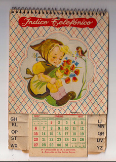 Calendario Del Ano 1957.Antiguo Calendario Almanaque Ano 1957 Completo 9 X 7cm