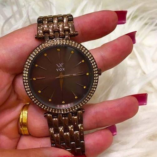Relógio Feminino Vox Dallas Na Cor Chocolate