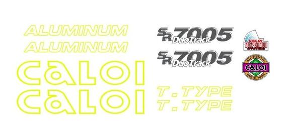 Adesivo Bicicleta Antiga Caloi Aluminum T Type Amarelo
