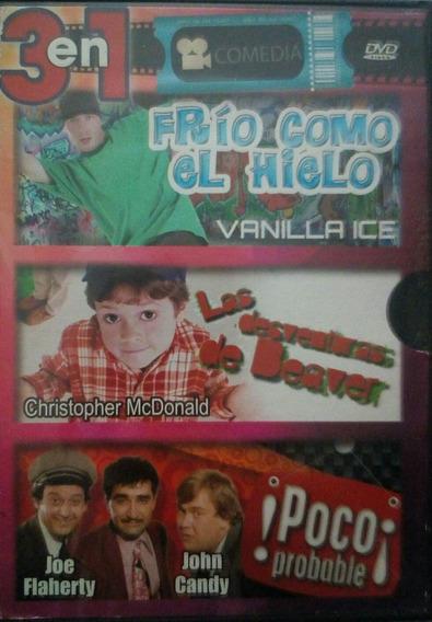Dvd Frio Como El Hielo Vanilla Ice Y 2 Peliculas Mas