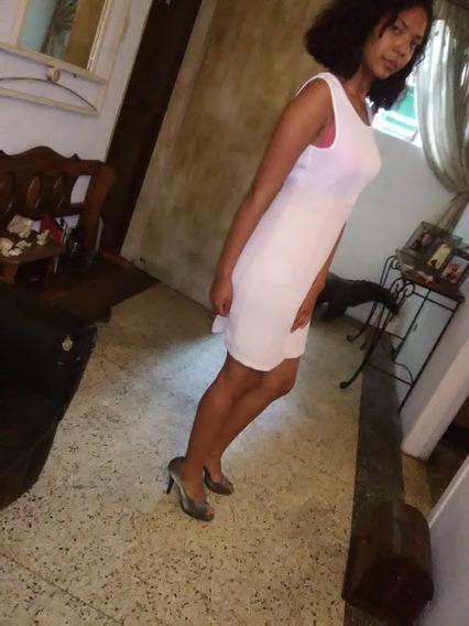 Hermoso Vestido Sobre La Rodilla Blanco Beige