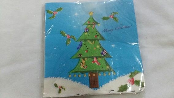 Paquete De 20 Servilletas De Navidad Ideal Decoupage