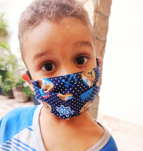 Máscara De Proteção 100% Algodão 1 Unidades - Infantil