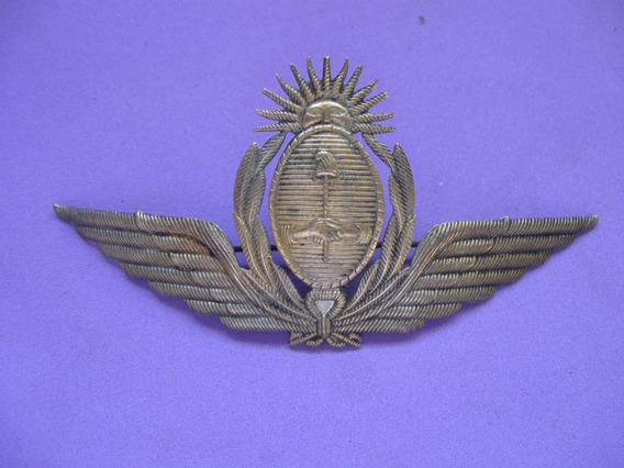 Insignia, Escudo De Gorra, De Aeronautica, De Bronce