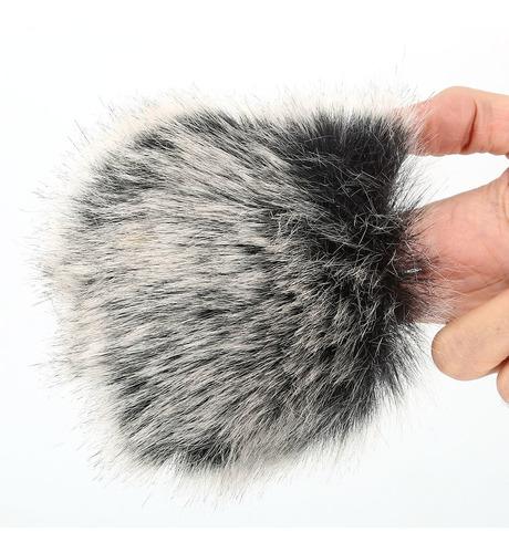Imagem 1 de 5 de Microfone À Prova De Vento Para-brisa Vento Pele Muff Para D