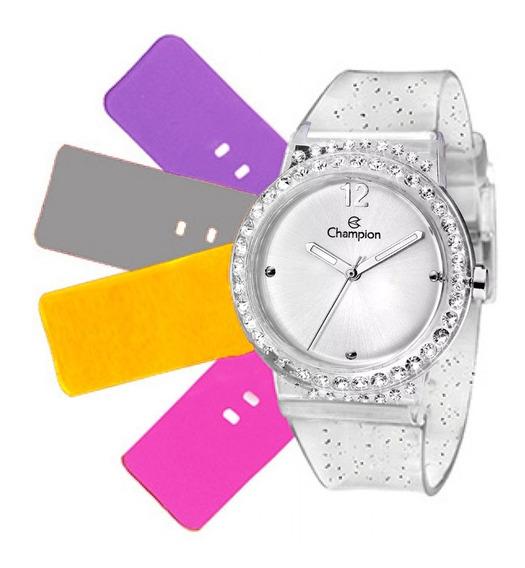 Relógio Feminino Champion Troca Pulseiras Cp38086r / 62646