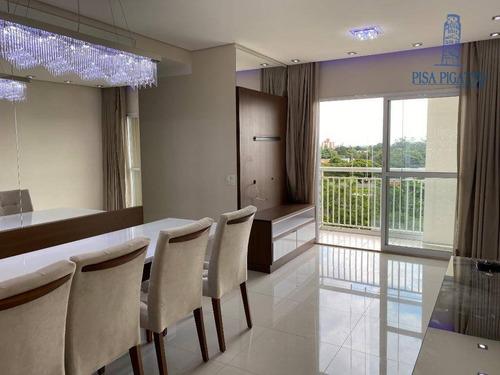 Apartamento Com 3 Dormitórios À Venda, 69 M² Por R$ 590.000,00 - Morumbi - Paulínia/sp - Ap0992