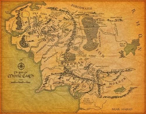 Mapa Terra Media Poster 60cmx80cm Enfeite Para Quarto