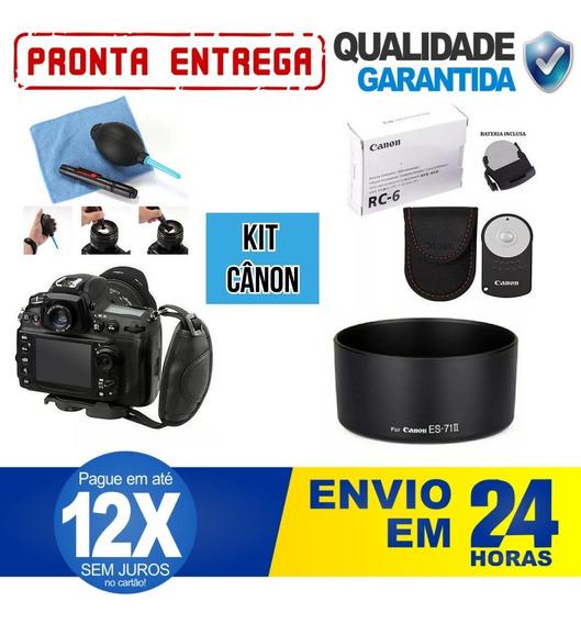 Kit Cânon Caneta + Rc6/capa + Alça Hand + Parasol 50mm