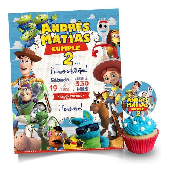 Invitacion Toy Story 4 Mas Etiqueta Circular